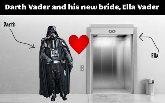 Darth Vader and His New Bride Ella SR Geek Picks: Comic Con Recap, Avengers 2 Fan Poster, Flash Trailer & More