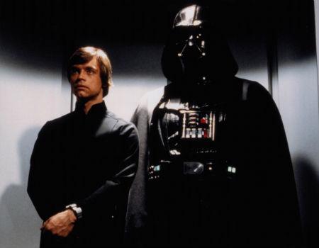 Darth Vader and Luke Skywalker