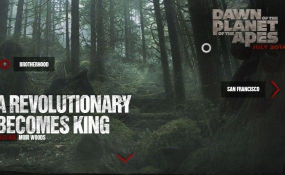Dawn of the Planet of the Apes Muir Woods 2 570x350 Dawn of the Planet of the Apes Images Tease a Post Civilization World