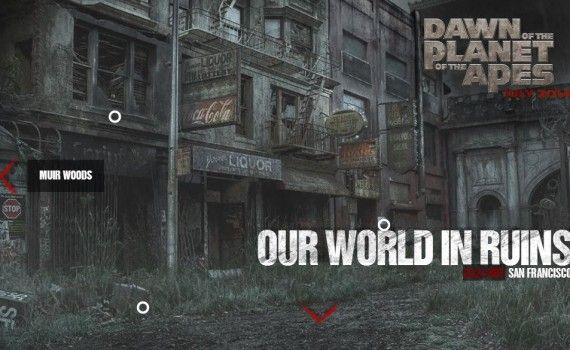 Dawn of the Planet of the Apes San Francisco 570x350 Dawn of the Planet of the Apes Images Tease a Post Civilization World