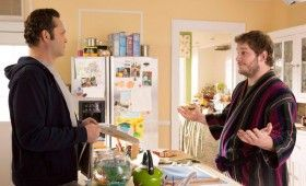 Delivery Man Official Still Photo Chris Pratt Robe Vince Vaughn 280x170 Delivery Man Interview: Vince Vaughn on Keeping it Real