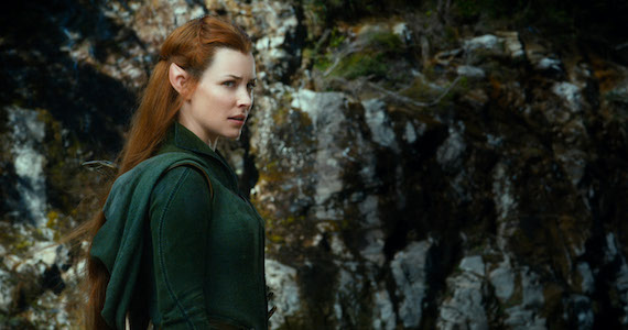 Desolation of Smaug Evangeline Lilly Tauriel The Hobbit: The Desolation of Smaug vs. The Two Towers