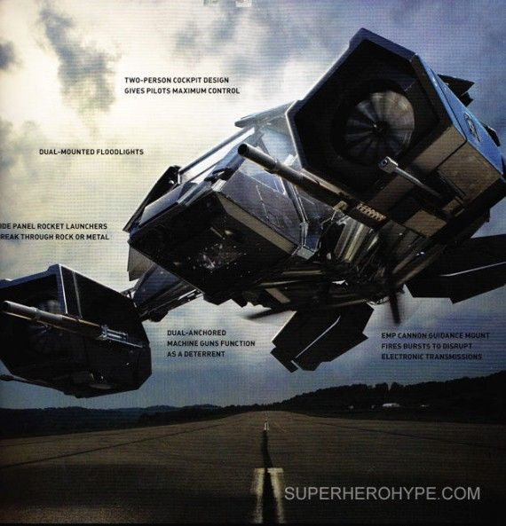 Detailed Look At the Batwing in The Dark Knight Rises 570x593 Detailed Look At the Batwing in The Dark Knight Rises