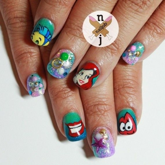 Disney Nail Art That Will Render You Speechless 570x570 SR Geek Picks: French Versions of Hollywood Movie Posters, Captain EO Facts & More