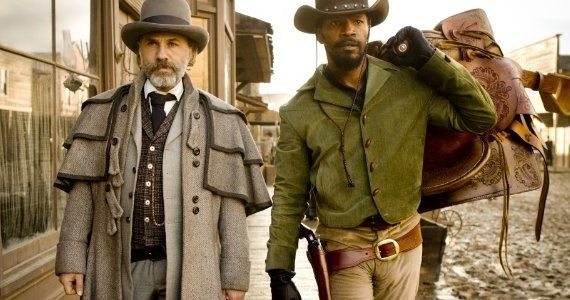Django Unchained Jamie Foxx Christoph Waltz Christoph Waltz to Host SNL   Are You Excited?