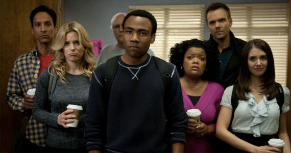 Donald Glover and the cast of Community Community Season 5: Donald Glover Only in 5 Episodes