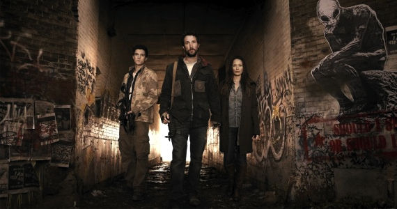 Drew Roy Noah Wyle Moon Bloodgood Falling Skies TNT Falling Skies Renewed For Season 3