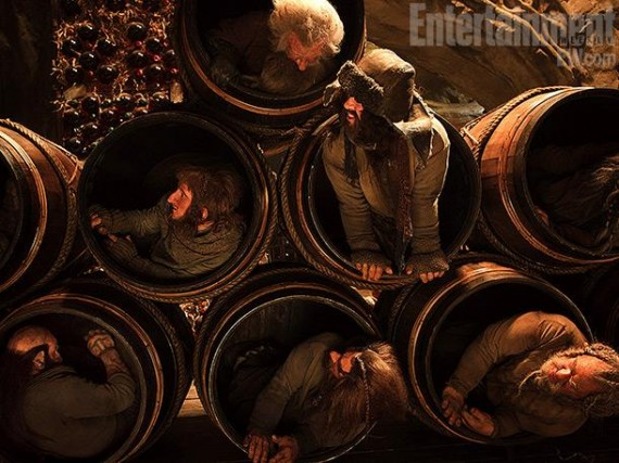 Dwarves Hiding Inside Barrels in The Hobbit