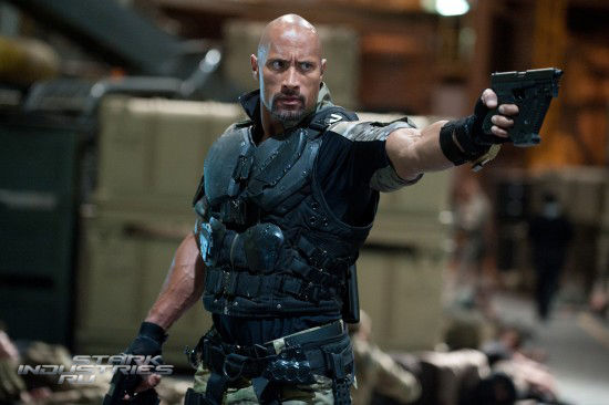 Dwayne Johnson as Roadblock in G.I. Joe Retaliation  Dwayne Johnson as Roadblock in G.I. Joe Retaliation