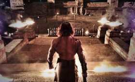 Dwayne Johnson commands troops in Hercules 280x170 Dwayne Johnson Prepares for Battle in Hercules Images as Production Wraps