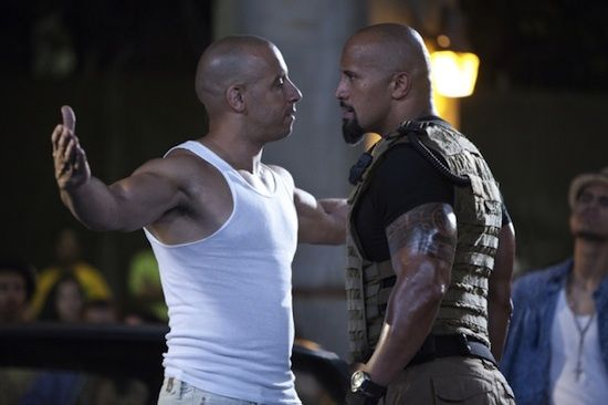 Dwayne Rock Johnson Vin Diesel Fast Five Fast Five Review