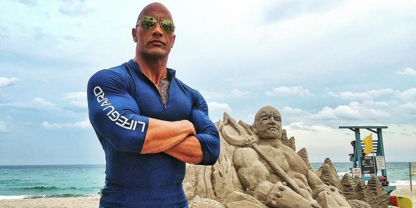 film section news dwayne johnson efrons baywatch gets naughty artwork