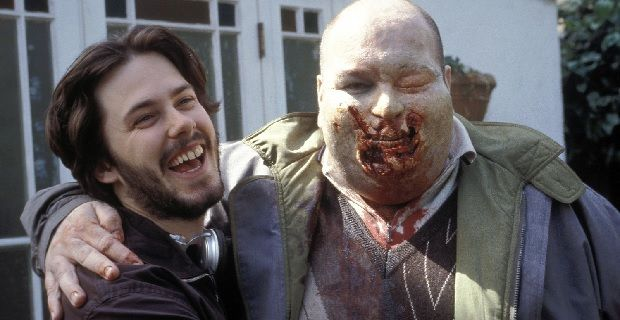 Edgar Wright on the set of Shaun of the Dead Is Edgar Wrights Collider Going to be a Horror Film?