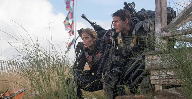 Edge of Tomorrow Blunt Cruise Edge of Tomorrow Preview Footage Description: Awe At Tom Cruises Many Deaths