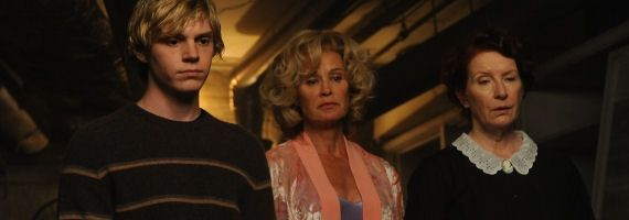 Evan Peters Jessica Lange and Frances Conroy in American Horror Story FX FX Orders Season 2 of American Horror Story