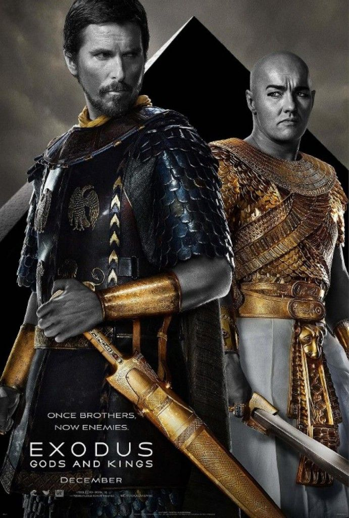 Exodus Gods and Kings Poster Bale and Edgerton 691x1024 Exodus: Gods and Kings Trailer and Posters
