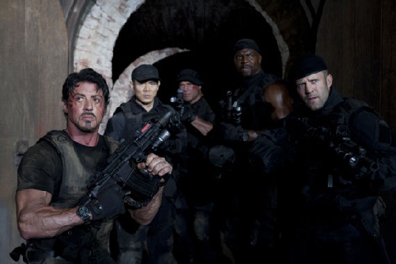 Expendables Stallone Statham Li Crews Coutoure The Top 10 Movie Moments of 2010