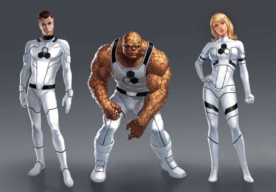 Fantastic Four Future Foundation Costumes 570x397 Rumor Patrol: X Men vs. Fantastic Four Movie Story Revealed [Debunked]