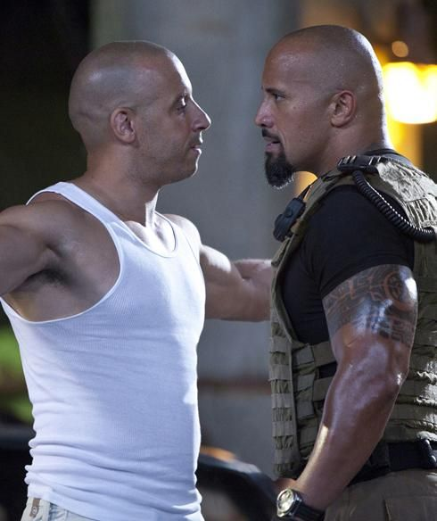 Fast Five Vin Diesel Dwayne Johnson