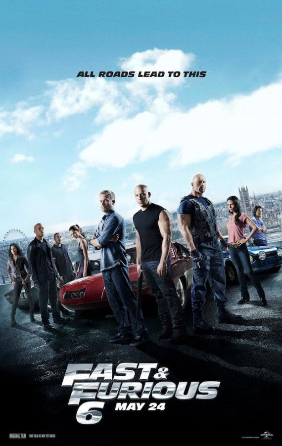 Fast and Furious 6 cast Poster 570x902 Fast and Furious 6 cast Poster
