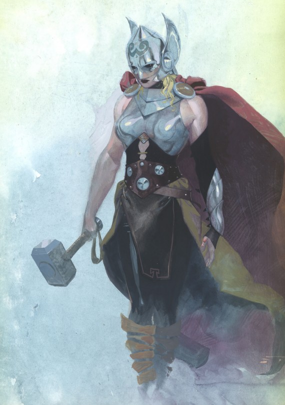 Female Thor God of Thunder Cover 001 570x810 Avengers NOW! Reboot: What It Means for Future Marvel Movies [Updated]