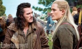 First Photo of Legolas and Bard in The Hobbit 280x170 First Look at Legolas in The Hobbit: There and Back Again