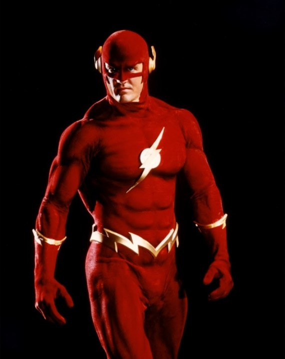 Flash Costume 90s TV Series 570x718 The Flash Full Costume Revealed   Do You Approve?