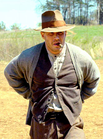 Forrest Bondurant (Tom Hardy) in Lawless