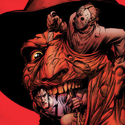 Freddy vs Jason vs Ash Comic Book Cover