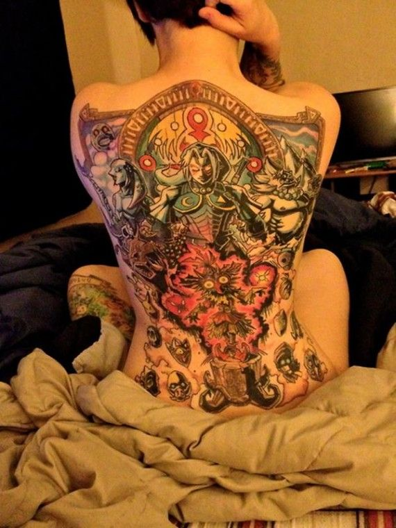 Full Back Legend Of Zelda Tattoo 570x760 SR Geek Picks: Weight of Thors Hammer, Emilia Clarkes Game of Thrones Audition and More
