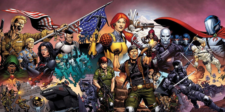 GI Joe Spread colours combined G.I. Joe & Six Million Dollar Man Team Up In New Comic Crossover