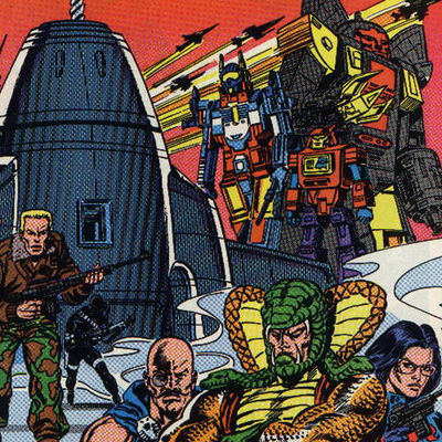 GI Joe Transformers Comic Book Cover
