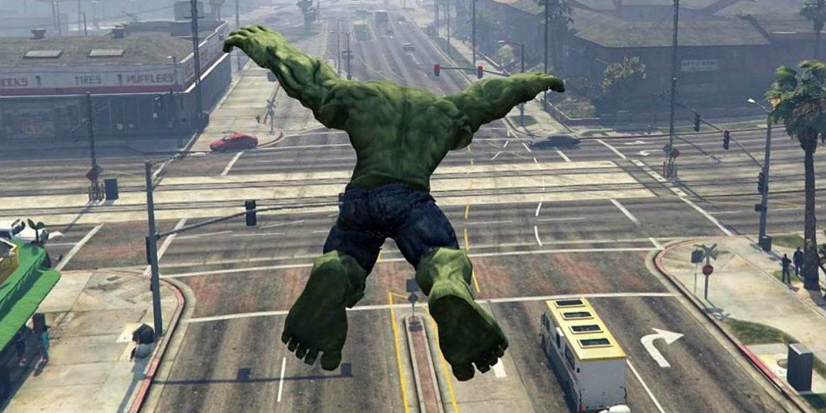 Grand Theft Auto V Mod Unleashes The Hulk   ScreenRant