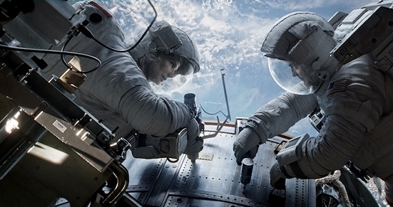 George Clooney and Sandra Bullock in Gravity Gravity Review