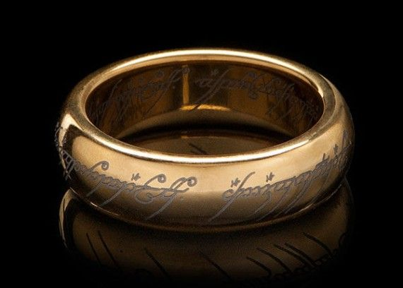Gold Plated Tungsten Carbide One Ring 570x408 Gold Plated Tungsten Carbide One Ring