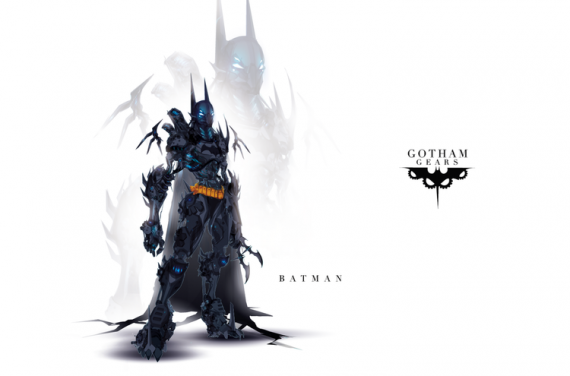Gotham Gears 570x376 SR Geek Picks: Marvel & DC Superheroes as Robots, Batman vs Superman Minimalist Poster & More