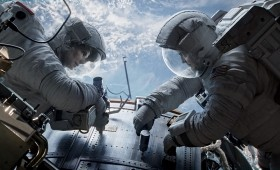 Gravity Still 2 280x170 New Gravity Images Show George Clooney and Sandra Bullock in the Ultimate Wilderness