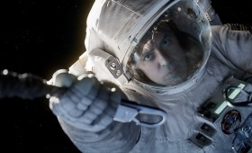 Gravity Still 3 280x170 New Gravity Images Show George Clooney and Sandra Bullock in the Ultimate Wilderness