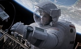 Gravity Still 5 280x170 New Gravity Images Show George Clooney and Sandra Bullock in the Ultimate Wilderness