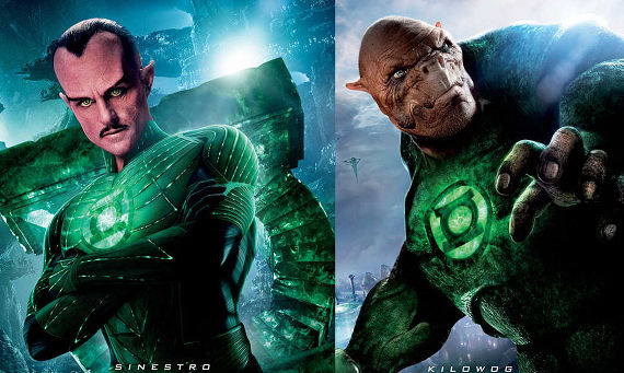 Green Lantern Movie Sinestro Kilowog Green Lantern Gets Bigger Effects Budget; New Lantern Corps Posters [Updated]