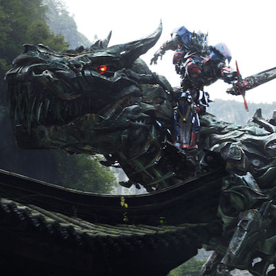 Grimlock and Optimus Prime Transformers 4 Movie