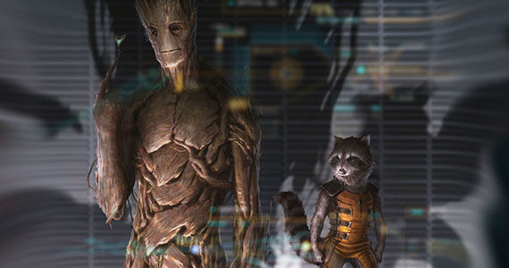 Grooth Rocket Racoon Movie Art Guardians of the Galaxy Groot Rocket Racoon Movie Art Guardians of the Galaxy