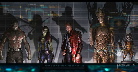 Guardians of the Galaxy Character Roster Concept Art Line up Guardians of the Galaxy: This is Why Vin Diesel is Groot