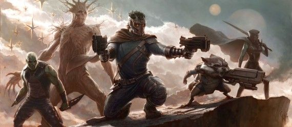Guardians of the Galaxy Concept Art 570x248 Awesome Captain America 2 & Guardians of the Galaxy Production Art
