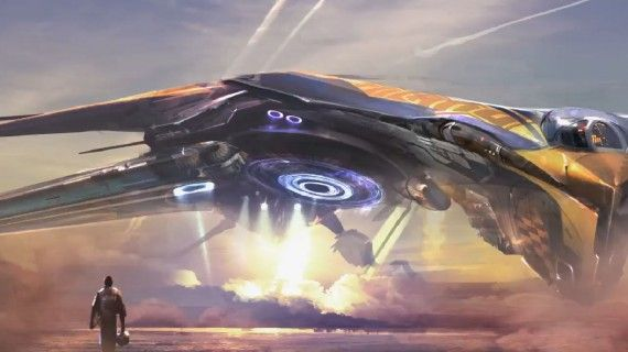 Guardians of the Galaxy Earth Ship Art 570x320 Marvel Studios Head Talks Guardians of the Galaxy Avoiding Green Lantern Problems