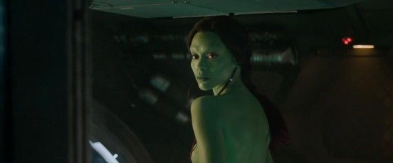 Guardians of the Galaxy Gamora Seduction Shot 570x237 Guardians of the Galaxy   Gamora Seduction Shot