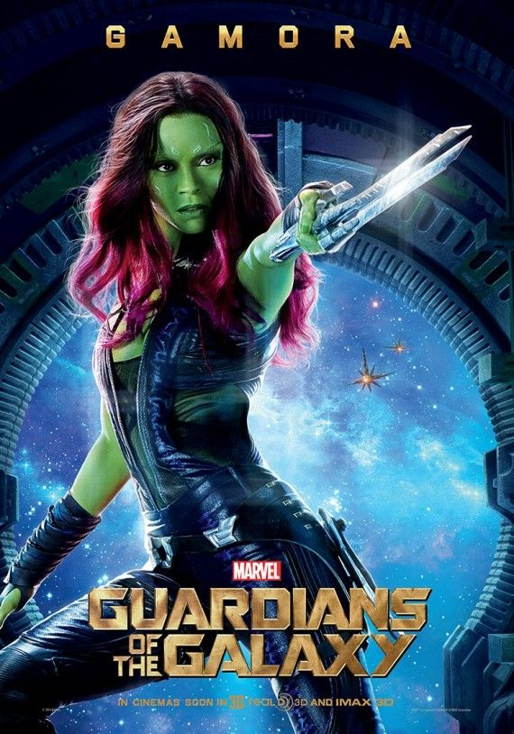 Guardians of the Galaxy Gamora character poster 570x814 Guardians of the Galaxy Character Posters & Yondu Image