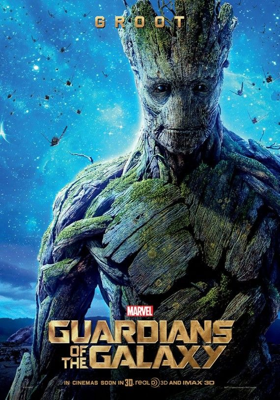 Guardians of the Galaxy Groot character poster 570x814 Guardians of the Galaxy Character Posters & Yondu Image