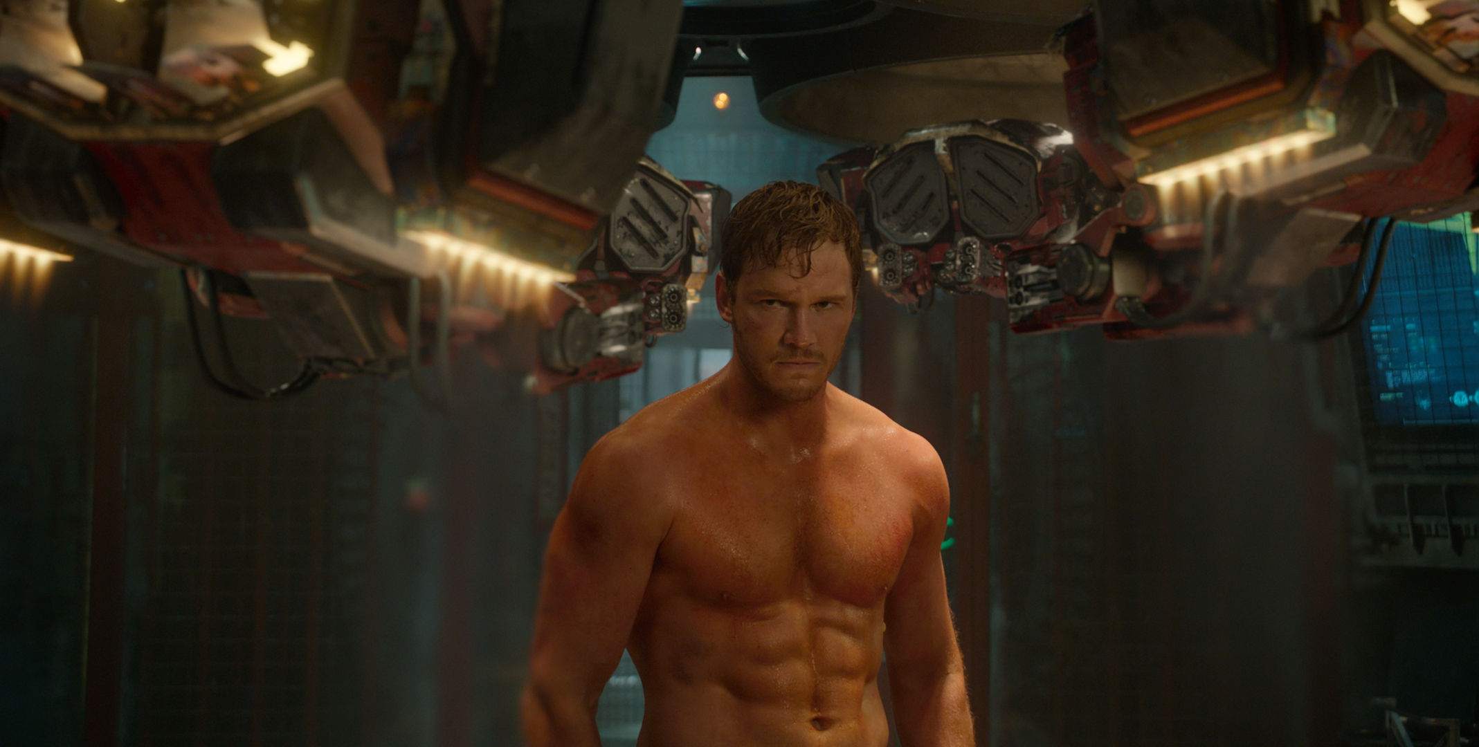 Guardians of the Galaxy Official Photo Chris Pratt Workout New Guardians of the Galaxy Image; Chris Pratt & James Gunn Talk Star Lord