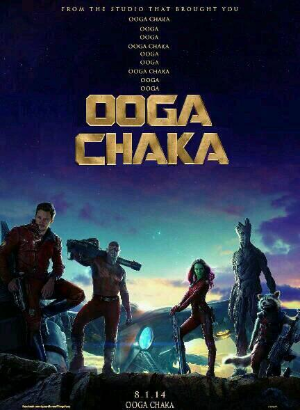Guardians of the Galaxy Ooga Chaka Poster The First Guardians of the Galaxy Poster is Awesome [Updated]